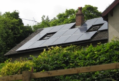 Solar panels on Wirksworth house